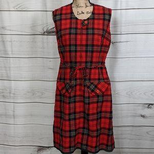PENDLETON TARTAN PLAID 100% Virgin Wool Dress